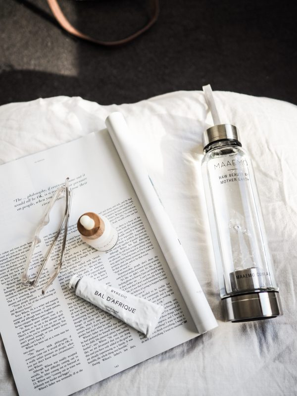Maaemo Clear Quartz Crystal Infusion™ Water Bottle
